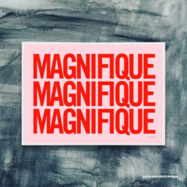 Gayle Mansfield print Magnifique (red/pink) - A4
