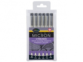Sakura Pigma Micron etui 6 pieces - Black