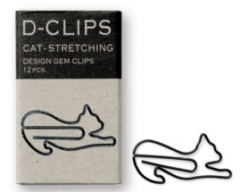 Midori mini D-Clips Cat Stretching Black 3