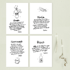 Sukha Poetry Cards Set (8 cards)