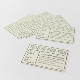 "Midori Gift Sticker - ""For You"" White"