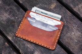 Galen Leather Leather Slim Card Wallet - Crazy Horse Tan