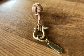 Galen Leather - The Knot - Leather Monkey's Fist Keychain