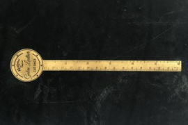 Galen Leather - Brass Ruler / Letter Opener