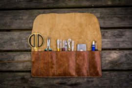 Galen Leather Tool Roll / Pencil Roll