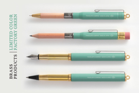 TRC BRASS FOUNTAIN PEN Factory Green