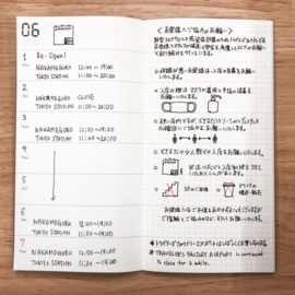 TRAVELER`S Notebook - Refill 019 : Free Diary  + Notes