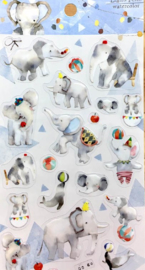 Liang Feng Watercolor Stickers - Elephant