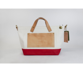 The Superior Labor - Cotton Canvas Engineer Tote Bag XS Red