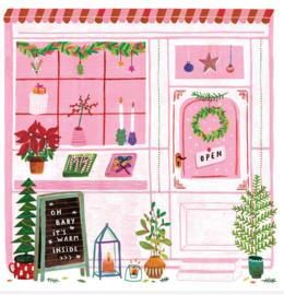 Teken-Ing Kerstkaart Kerstshop