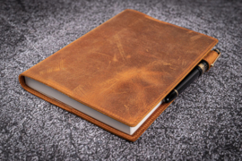 Galen Leather  A5 Notebook/Planner Cover - Crazy Horse Tan