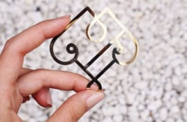 Galen Leather - Brass Motif Clips - set of 2