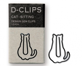 Midori mini D-Clips Cat Sitting Black 2
