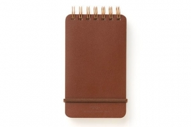 Midori WM Grain Memo Notebook Dark Brown