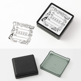 Midori Paintable Stamp - My Favorite