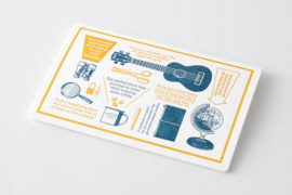 Letterpress Card  - Blue -Travel Tools