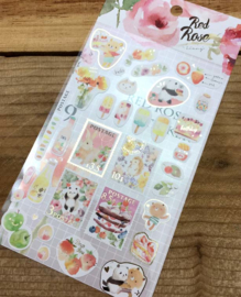 Liang Feng Watercolor Stickers - Red Rose