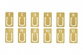 TRC BRASS Number Clips