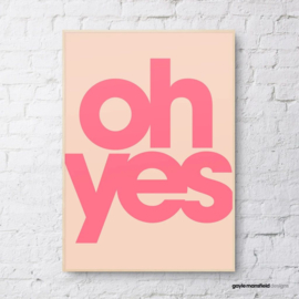 Gayle Mansfield print Oh yes (coral/pink)  - A4