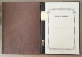 Leren insteekmap B5 incl. Notebook