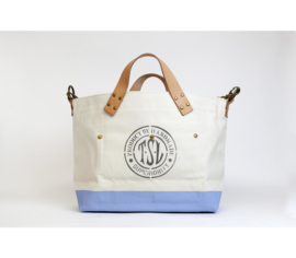 The Superior Labor - Cotton Canvas Engineer Tote Bag S - Light Blue