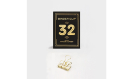 Tools to Liveby No.32 Binder Clips - GOLD