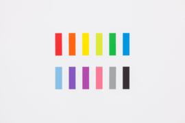 Stalogy Writable Sticky Notes, 15 x 50 mm, Set D (Pink, Grey, Black)