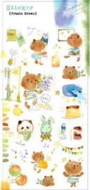 Liang Feng Watercolor Stickers - Potato Brown