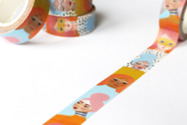 Piet en Kees Washi Tape Girls Club - 10m x 1.5 cm
