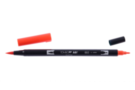 Tombow ABT DUAL BRUSH tekenpen. Kleur: warm red (885)