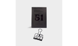 Tools to Liveby No.51 Binder Clips - BLACK