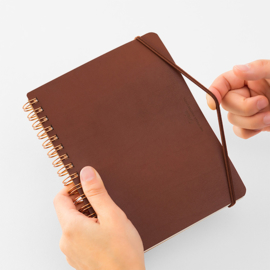 Midori WM Grain Memo Notebook Brown - B6