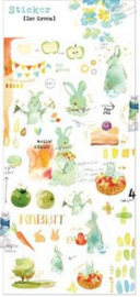 Liang Feng Watercolor Stickers - Ice green