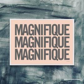 Gayle Mansfield print Magnifique (coral/grey) - A4