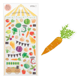 Midori Sticker 2363 Marché Vegetable