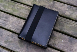 Galen Leather - Leren cover A5 - Black