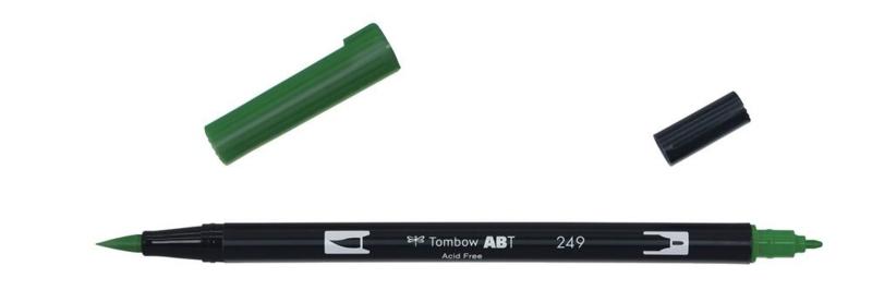 Tombow ABT DUAL BRUSH tekenpen. Kleur: hunter green (249)