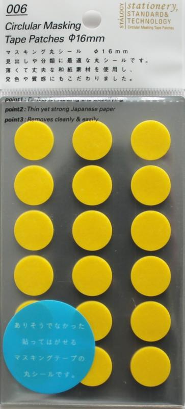 Stalogy 006 Masking Tape Patches - Brilliant Yellow Ø 1.6