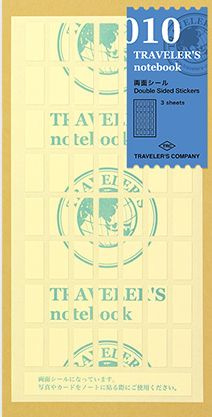 TRAVELER`S Notebook - Refill 010 : Double Sided Stickers