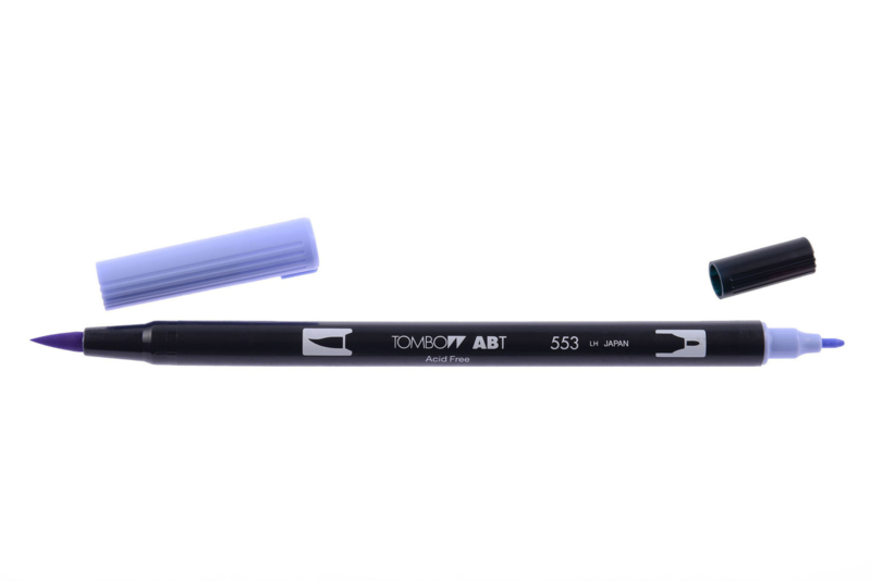 Tombow ABT DUAL BRUSH tekenpen. Kleur: mist purple (553)