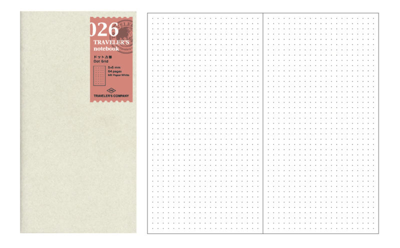 TRAVELER`S Notebook - Refill 026 Dot grid