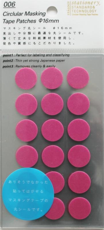 Stalogy 006 Masking Tape Patches - Opera Pink Ø 1.6