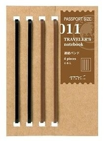TRAVELER`S Notebook PP - Refill 011 : Connecting Bands
