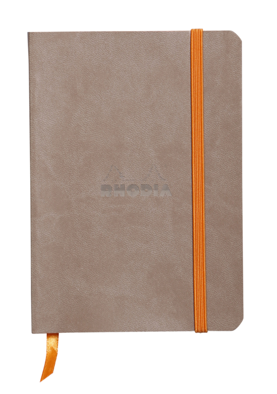 Rhodiarama Softcover Notebook - Taupe - Dots - A6