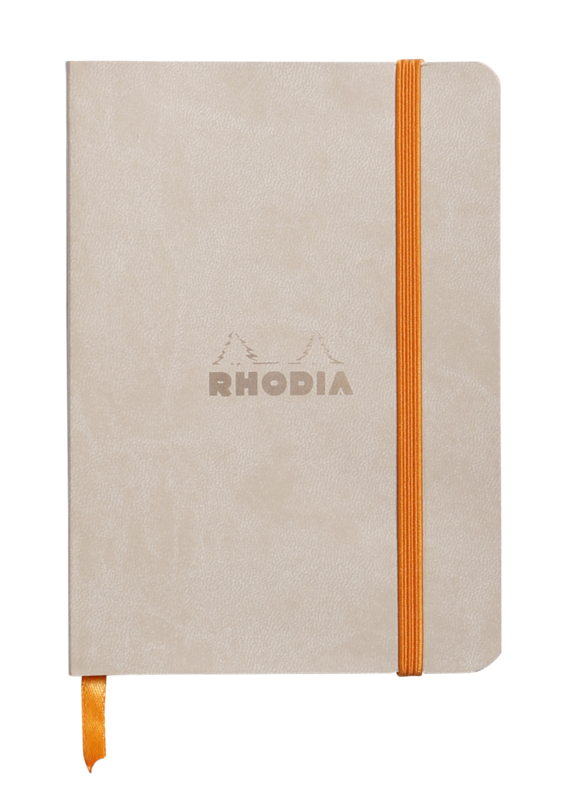 Rhodiarama Softcover Notebook - Beige - Dots - A6