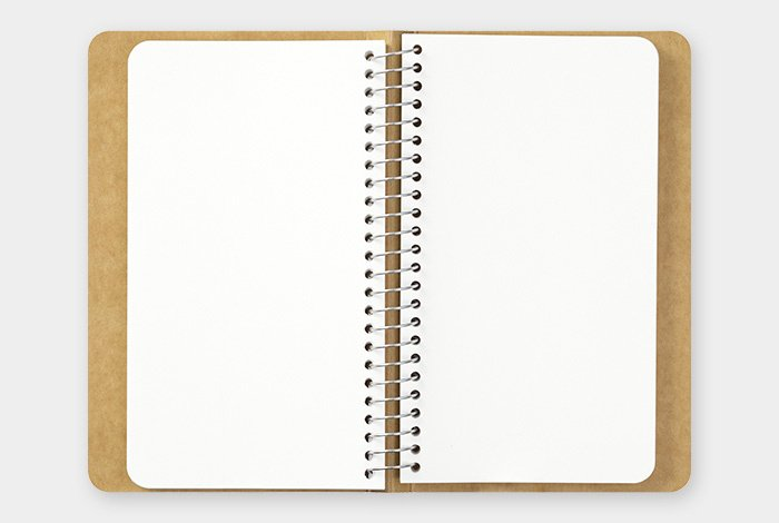 TRC SPIRAL RING NOTEBOOK - MDpaper White A6 slim