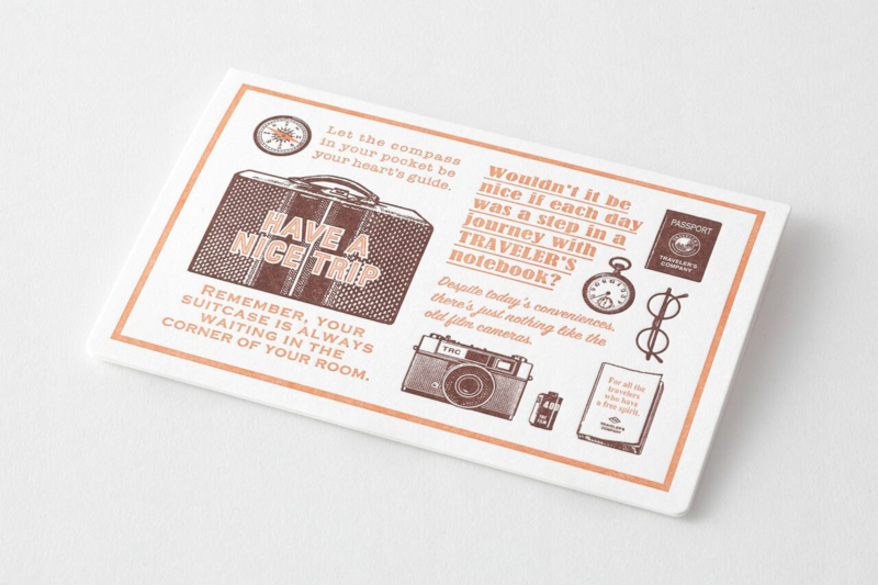Letterpress Card Brown  - Travel Tools