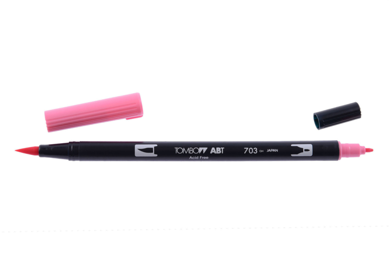 Tombow ABT DUAL BRUSH tekenpen. Kleur: pink rose (703)