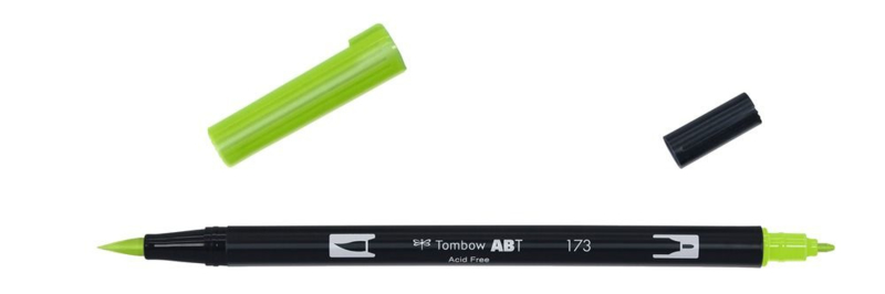 Tombow ABT DUAL BRUSH tekenpen. Kleur: willow green (173)