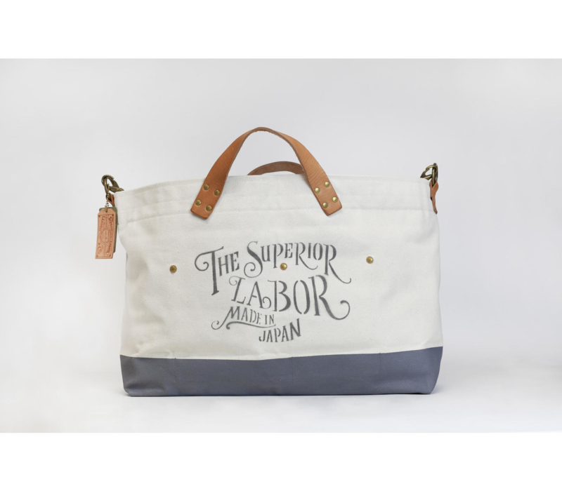The Superior Labor - Cotton Canvas Engineer Tote Bag L Dark Gray
